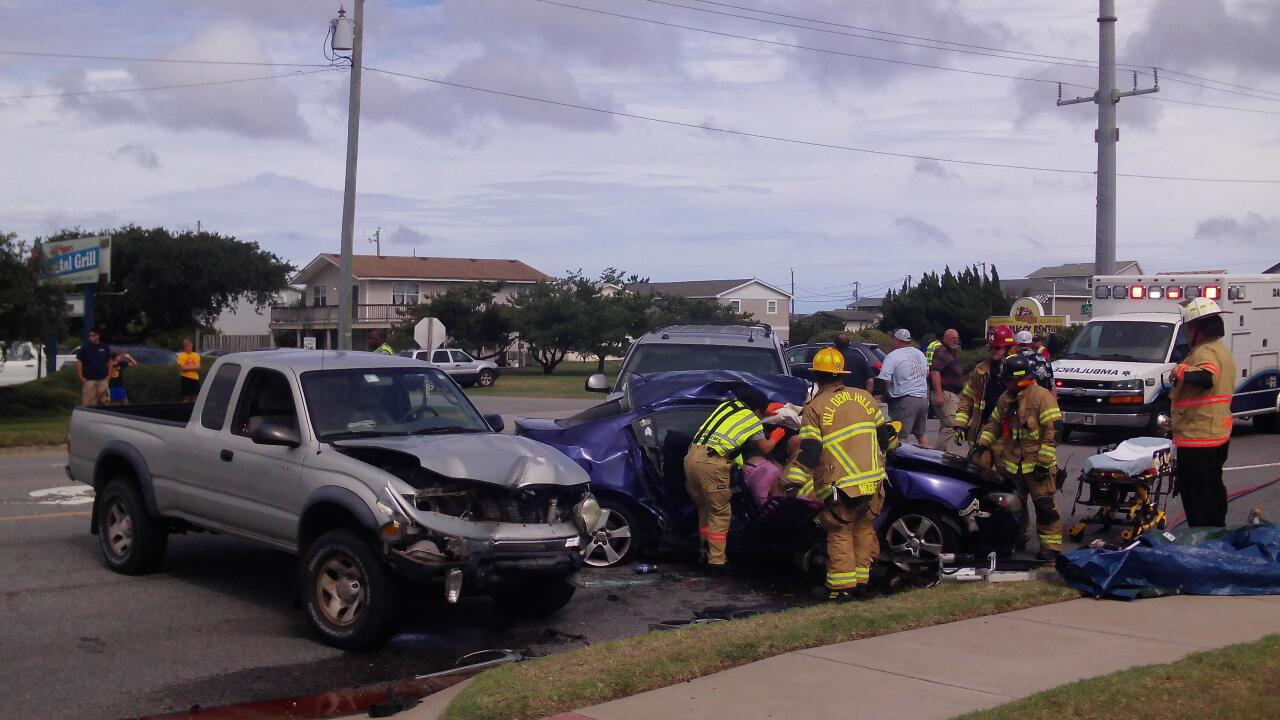 Woman critically injured in Kill Devil Hills 3-vehicle crash