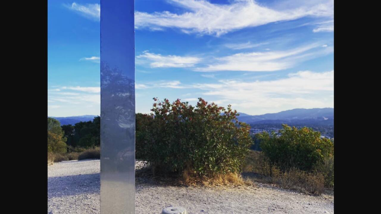Mysterious metal object appears along Atascadero hiking trail