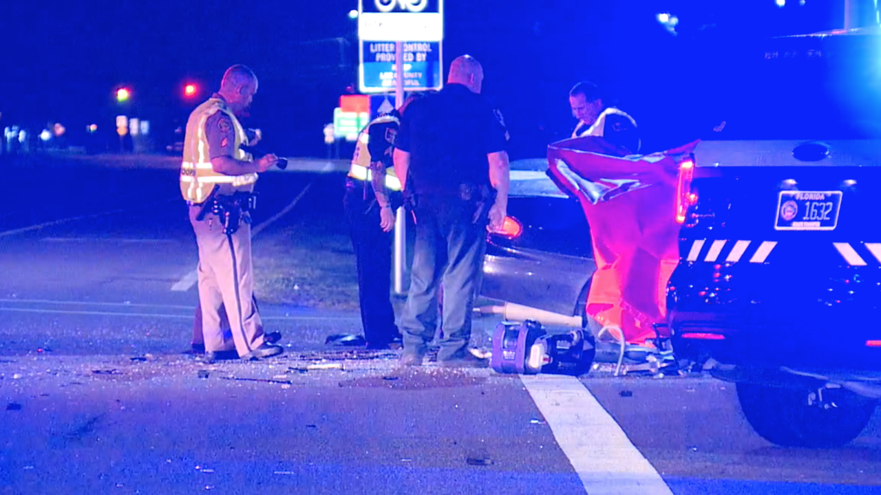 Fatal crash on Daniels Parkway at Danport in Fort Myers on April 1, 2019.
