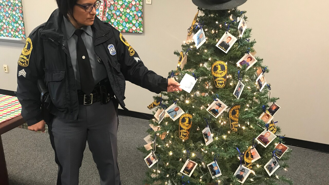 Christmas tree stands to honor fallen Virginia State PoliceTroopers