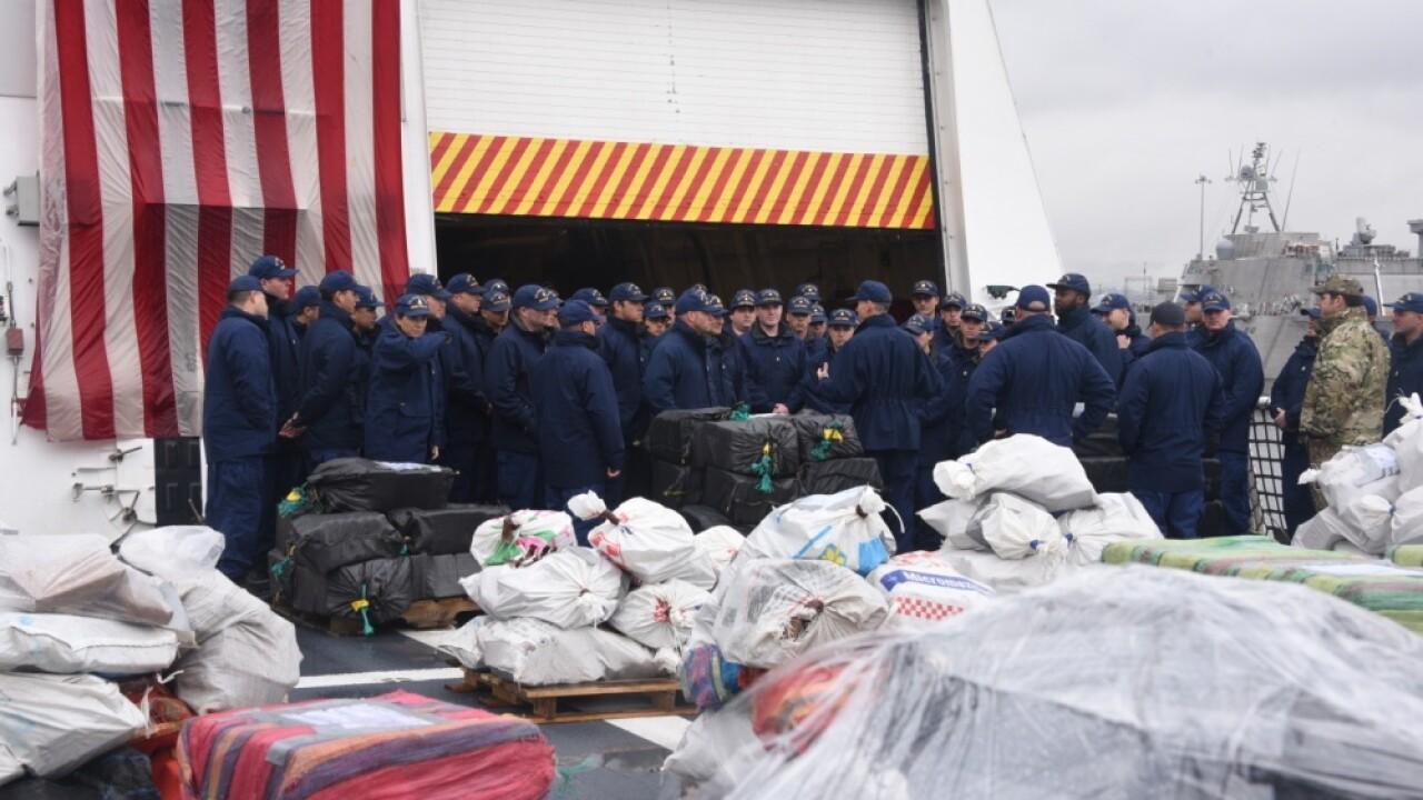 Coast Guard brings $338M of seized cocaine to San Diego