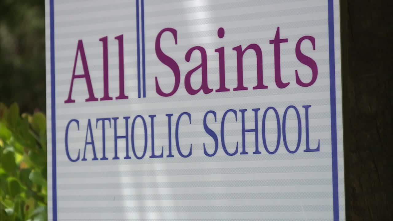 All Saints Catholic School sign in Jupiter
