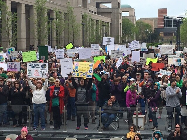 "PHOTOS: Thousands ""March for Science"" on Earth Day in Indy"