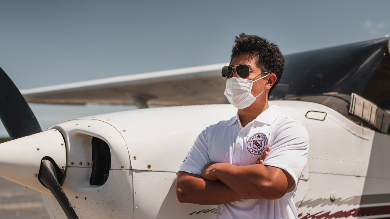 16-year-old T.J. Kim flies much-needed personal protective equipment into Newport News International Airport on Sunday, May 31, 2020.