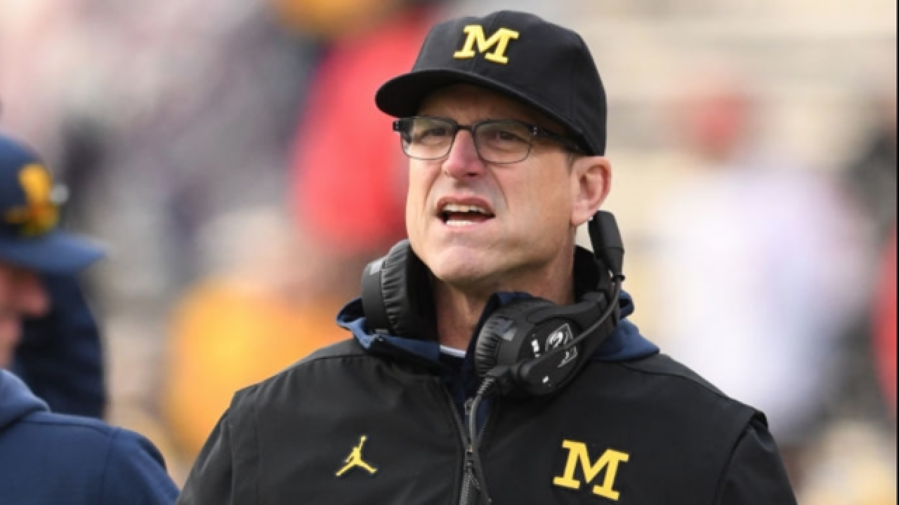 Police investigating threatening tweets that tag U of M football coach Harbaugh