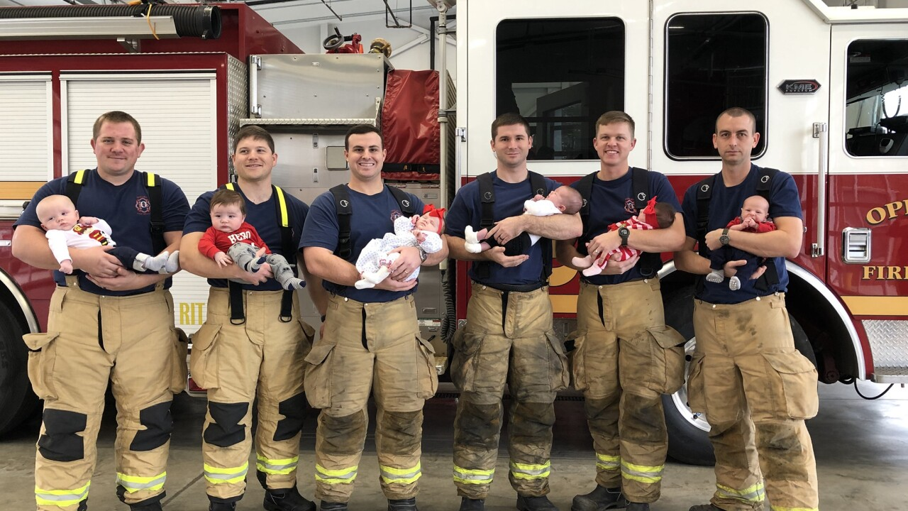 7 firefighters at 1 fire department become fathers within 3 months