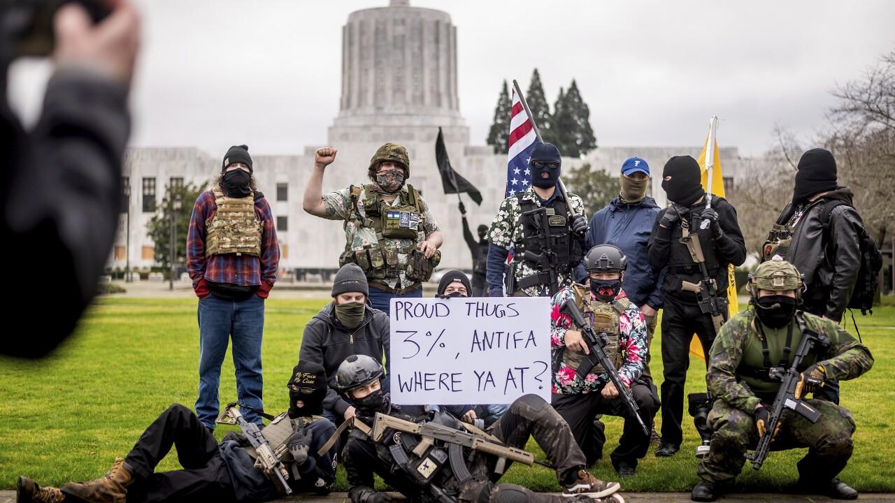 Capitol Breach Demonstrations Oregon