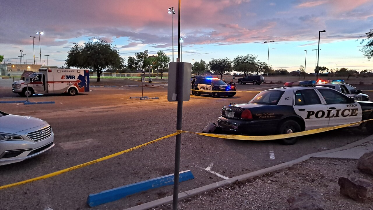 Police say a Tucson ambulance crew and several others were shot in an incident Sunday evening.