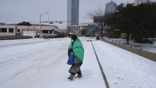 Winter Weather Texas Deepfreeze snow