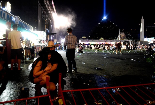 Chilling images from active shooter scene on Las Vegas Strip