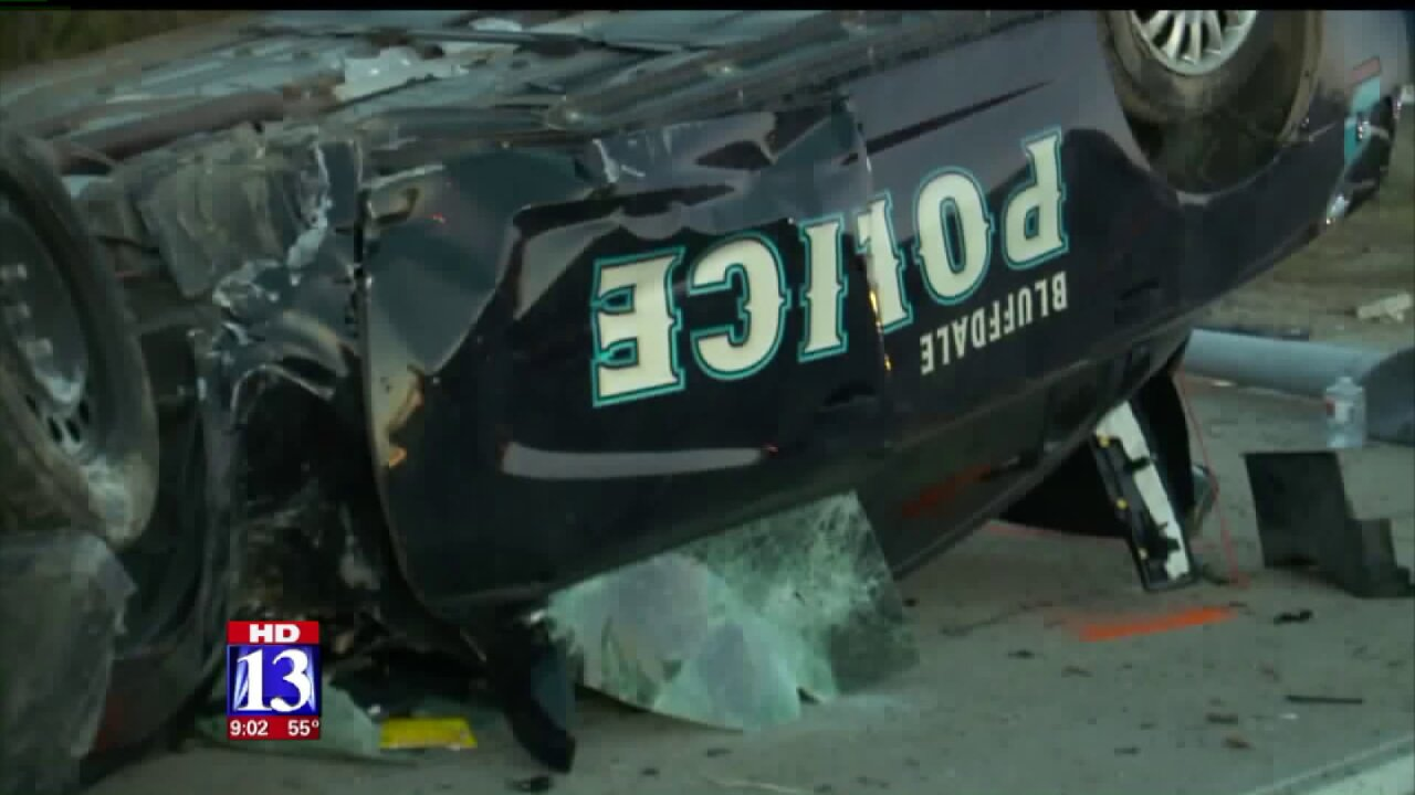 Internal review launched after Bluffdale officer's wife injured during high speed chase,crash