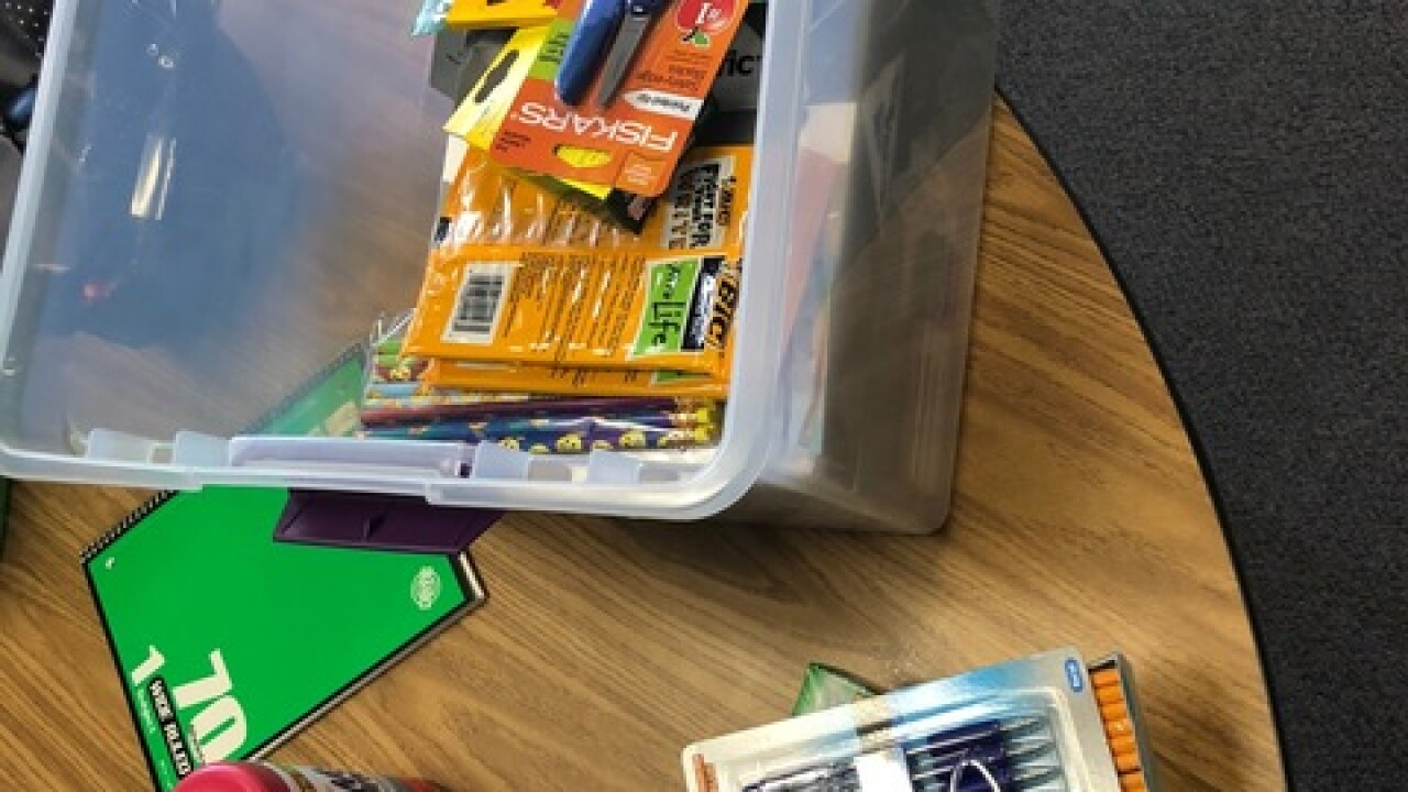 Monday is delivery day for school supply drive