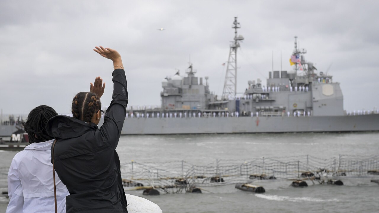 With Truman sidelined by electrical issues, escort ships deploy withoutcarrier
