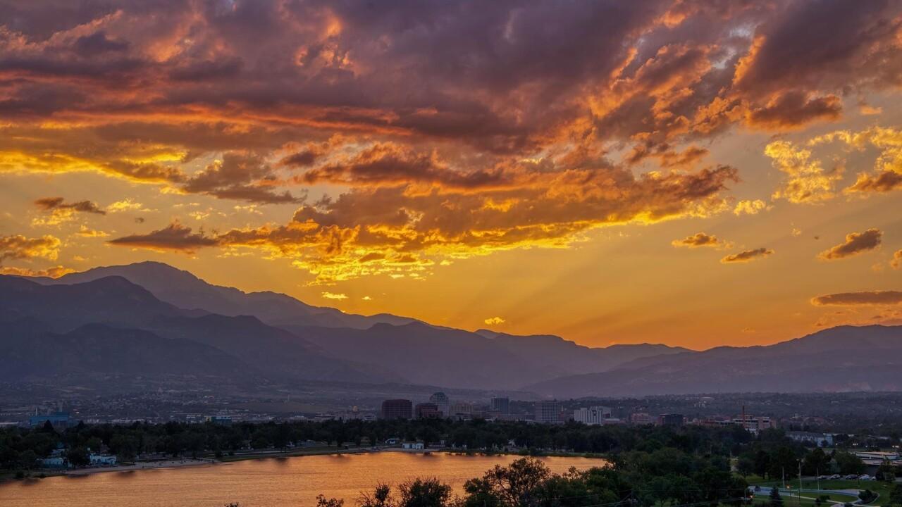 Larry Marr sunset Colorado Springs 8.20.21