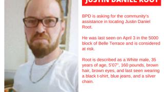 Missing Justin Daniel Root