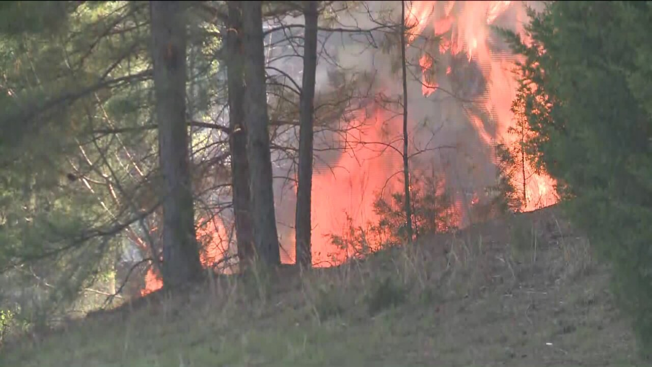 Fire crews battling brush fire in South Chesterfield