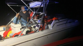 The U.S. Coast Guard and Border Protection Air and Marine Operations interdicted 23 undocumented Haitian migrants and two Bahamian suspected smugglers approximately 10 miles east of Palm Beach on Friday.