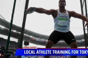 Local athlete training for Tokyo Olympics