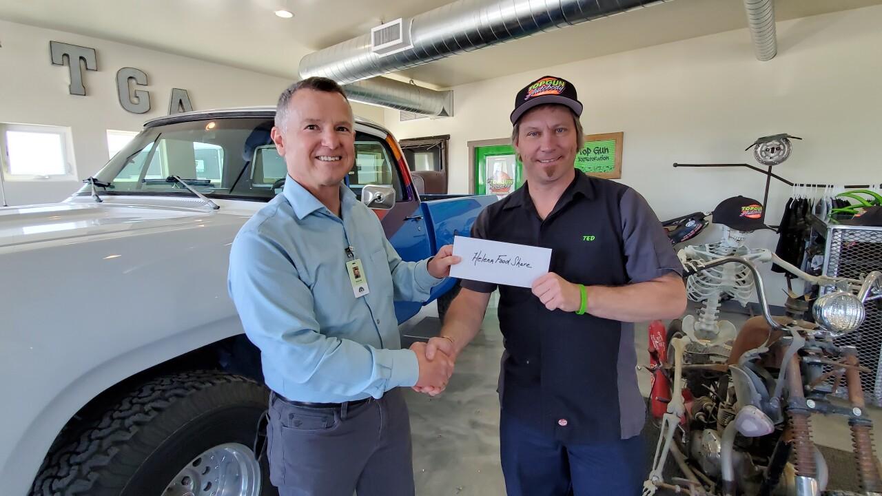 Helena food share donation top gun auto body