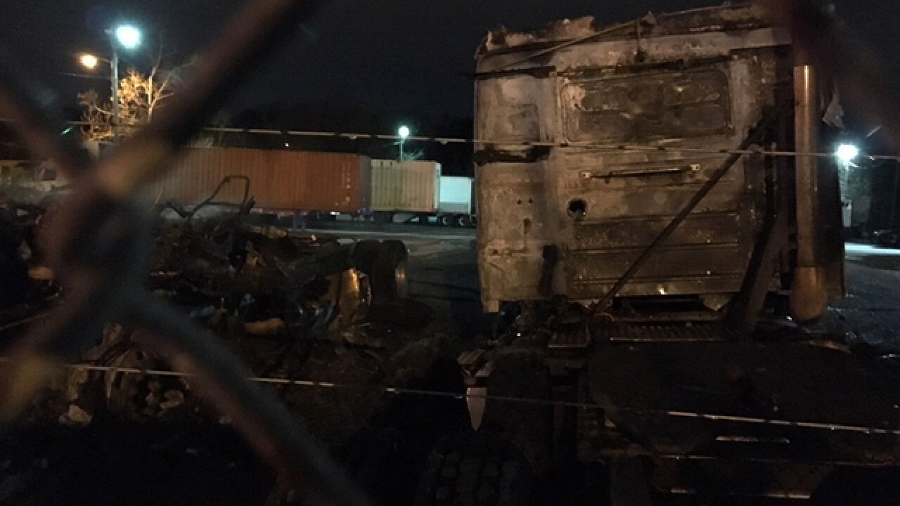 2 Semis Catch Fire At Nashville Trucking Company
