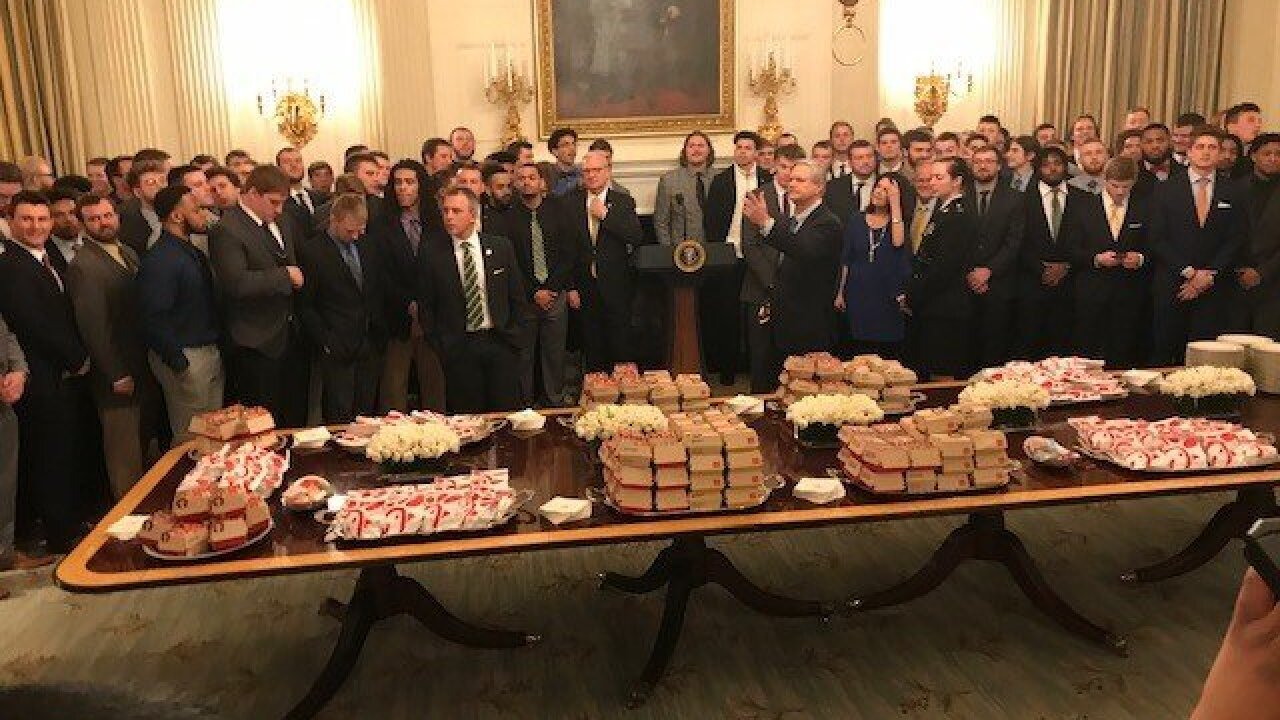More fast food at the White House: Trump serves Chic-fil-A to North Dakota State football team