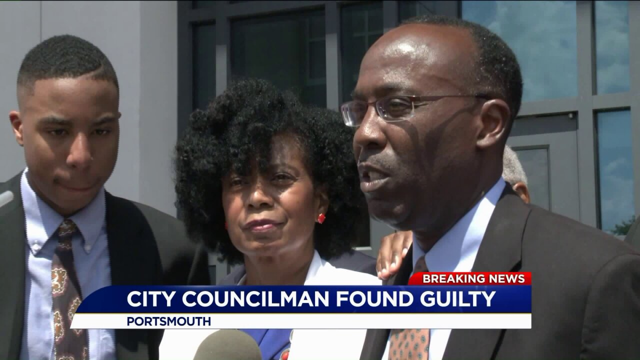 Portsmouth City Councilman found guilty on three forgery charges