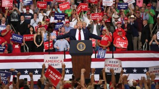 U.S. President Donald Trump speaks during his rally where he announced his candidacy for a second presidential term at the Amway Center on June 18, 2019 in Orlando, Florida. President Trump is set to run against a wide open Democratic field of candidates. (Photo by Joe Raedle/Getty Images)