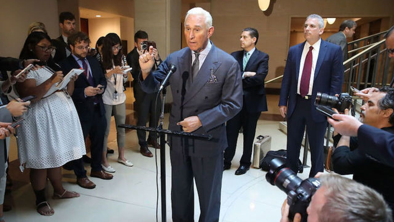 Roger Stone invokes Fifth Amendment in Senate Russia probe