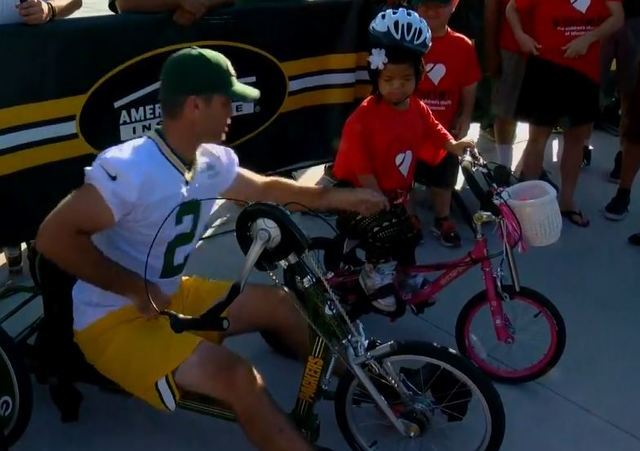 Kids Bike Ride Kicks Off Green Bay Packers Training Camp