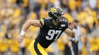 Zach VanValkenburg enjoying a big senior season at Iowa