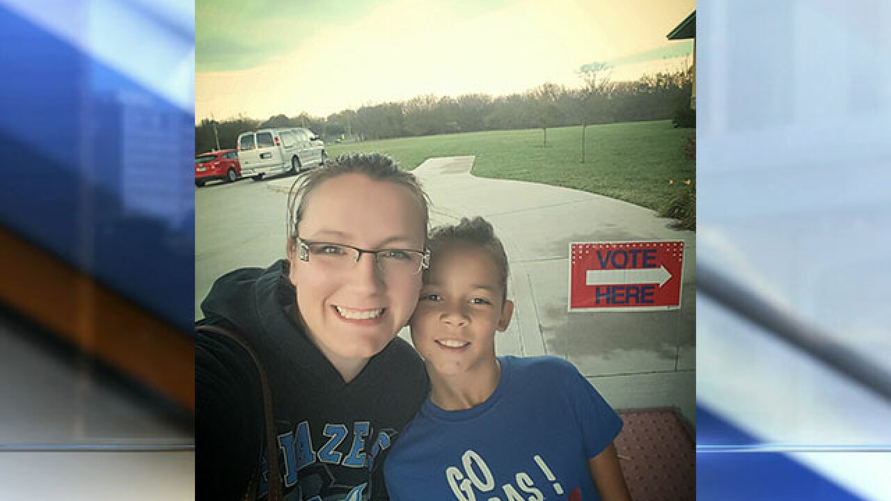 KC voters show off their 'I voted' stickers