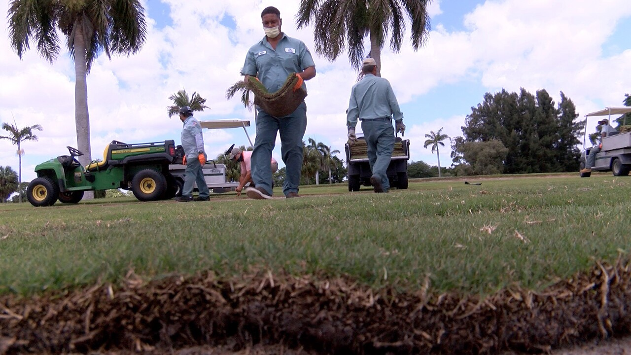 The Delray Beach Golf Club, a public golf course, has been closed for more than a month, and the city took the opportunity improve the links.