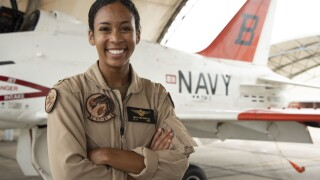 US Navy's 1st Black female Tactical Aircraft pilot gets Wings of Gold