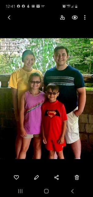 Jared Marcum with his family