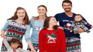 You can save up to 45% on matching family holiday pajamas at JCPenney right now