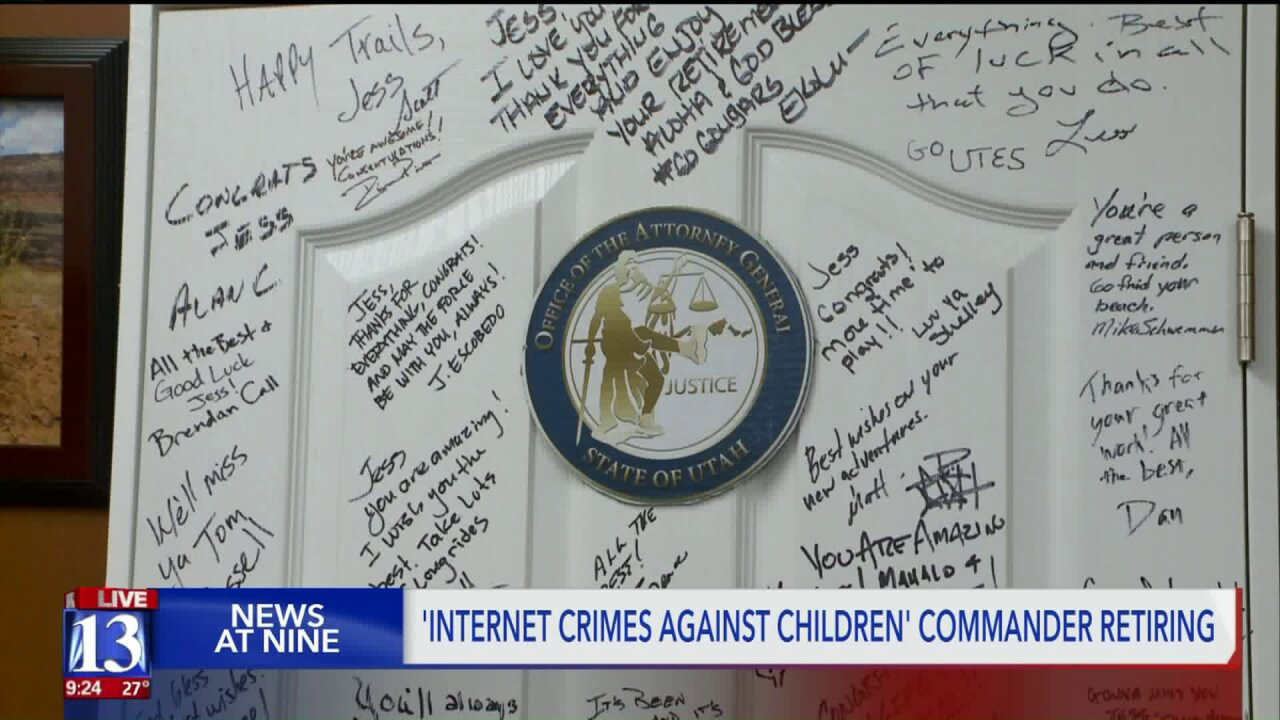 Utah Internet Crimes Against Children marks 20 years; Commander retiring