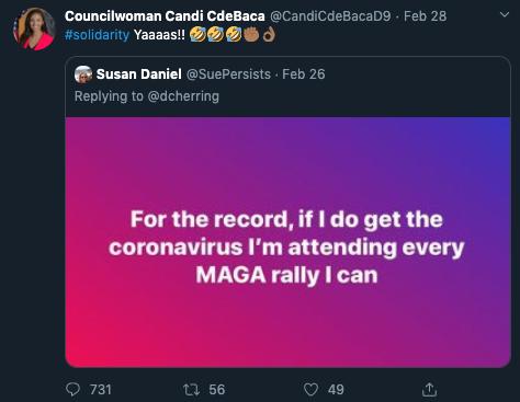 Councilwoman CdeBaca coronavirus remark