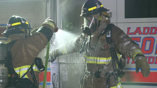 Phoenix firefighters wash down kits