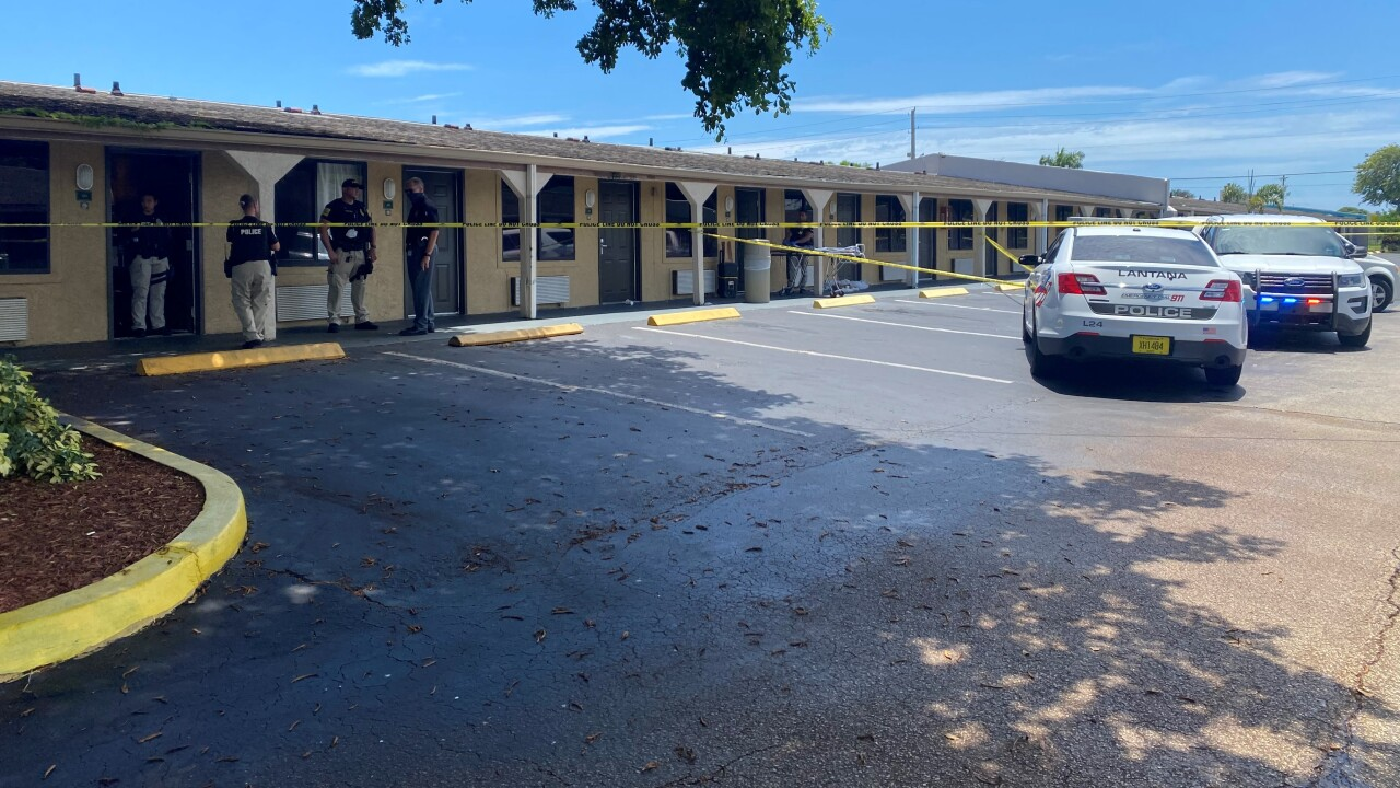 One person was found dead from apparent gunshot wounds at a Lantana motel Sunday morning.