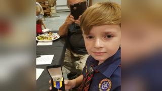 Local Boy Scout earns national award after saving grandma's life