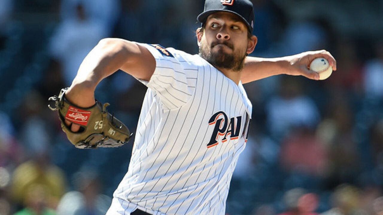 Indians trade Francisco Mejia for Padres' Brad Hand, Adam Cimber