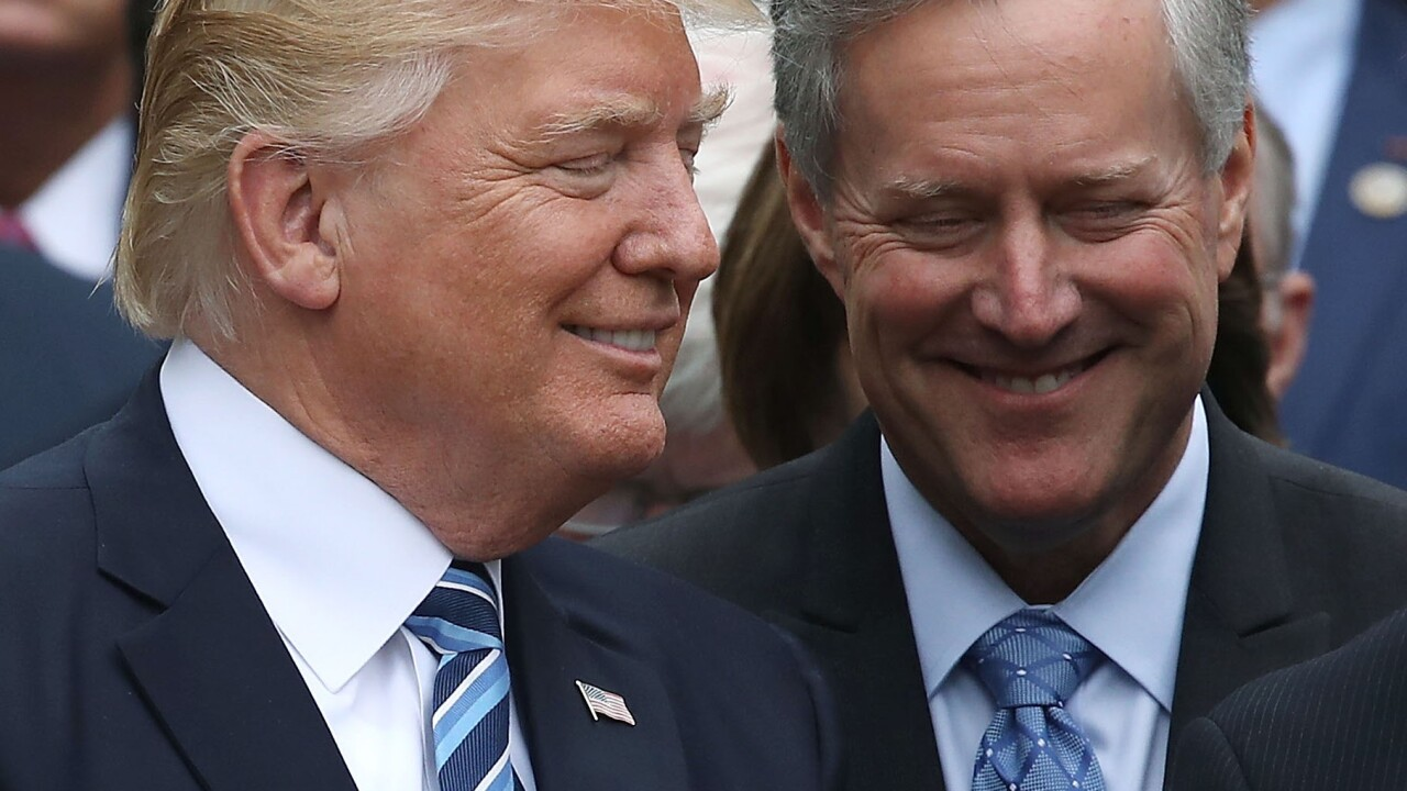 rep mark meadows trump is still holding out on 5b for the border