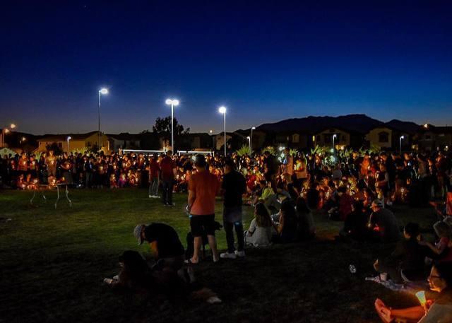 PHOTOS: #VegasStrong resonates through town