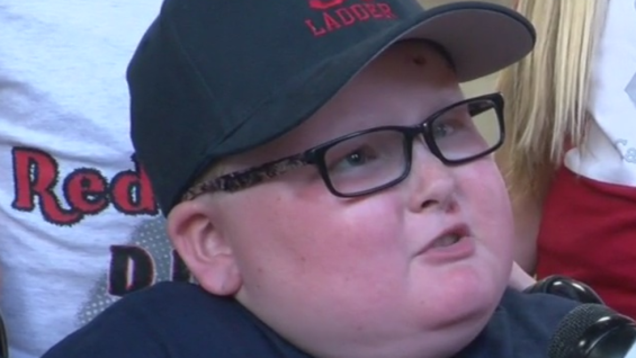 Boy with brain tumor gets to try out dream job