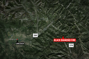 Black Diamond Fire map