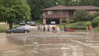 Parma flood damage