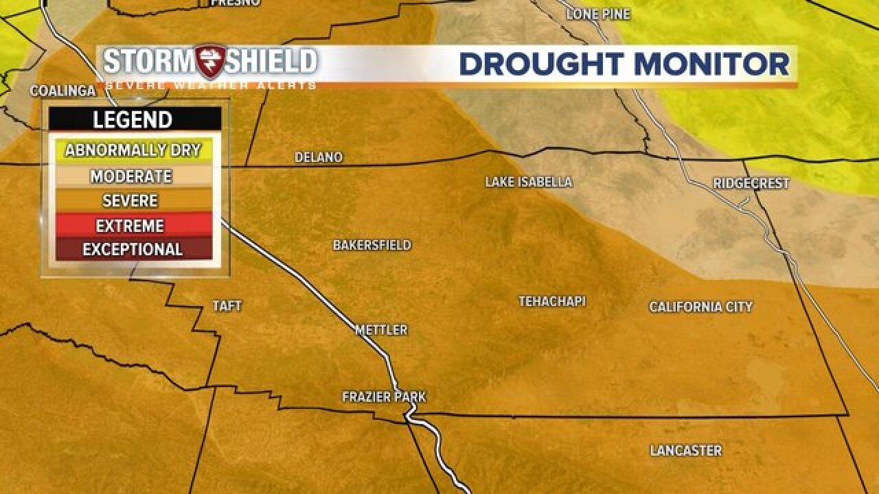 "Most of Kern County now classified under ""Severe Drought"""