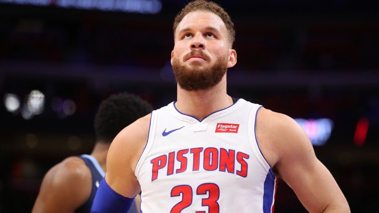 Pistons star Blake Griffin 'likely' to miss entire series with knee injury