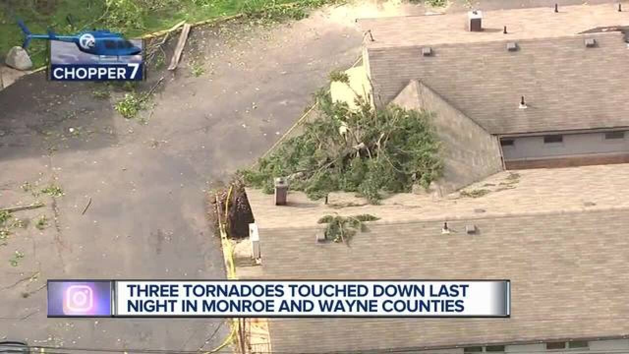 NWS: 3 tornadoes made landfall in metro Detroit