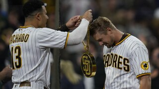 Cubs Padres Baseball manny machado brian o'grady